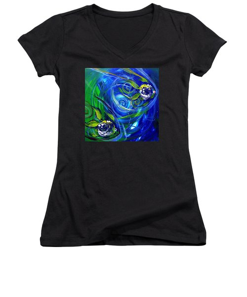 Six Subtle Ups And Downs 3 Women's V-Neck