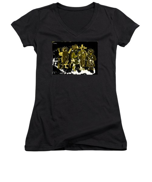 Sky People 5 Women's V-Neck T-Shirt