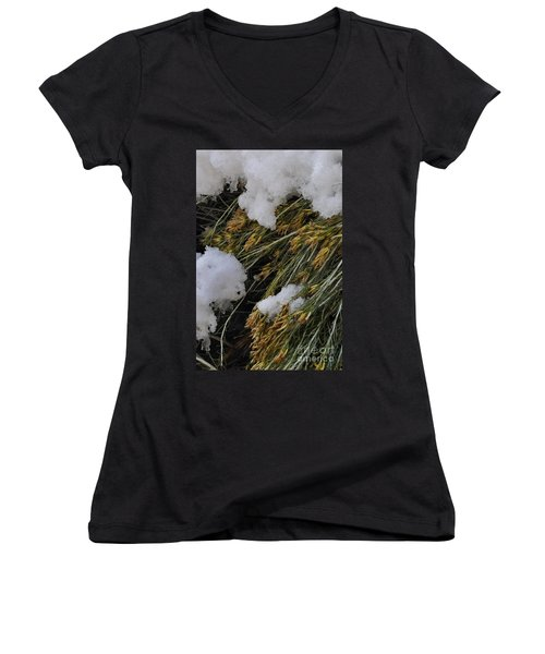 Women's V-Neck featuring the photograph Spring Arrives by Ron Cline