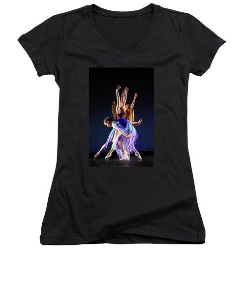 Spring Awaking Women's V-Neck T-Shirt (Junior Cut) by KG Thienemann