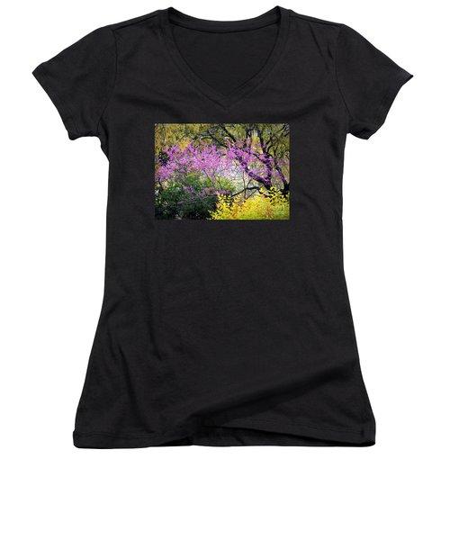 Spring Trees In San Antonio Women's V-Neck