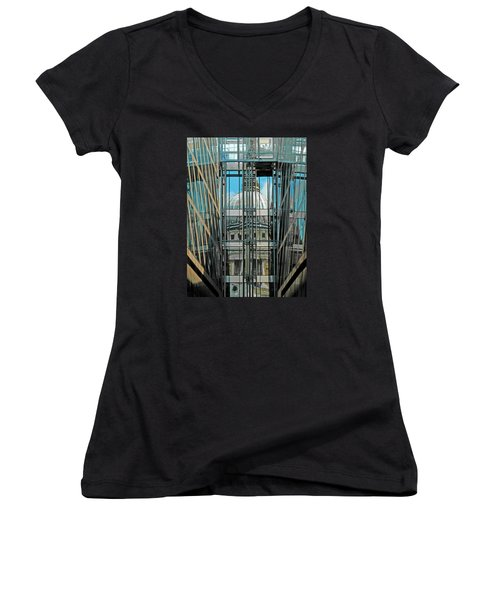 St Pauls Compressed Women's V-Neck T-Shirt