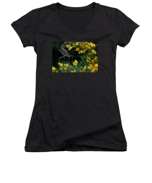 Women's V-Neck T-Shirt (Junior Cut) featuring the photograph Stairway To Heaven by Pedro Cardona