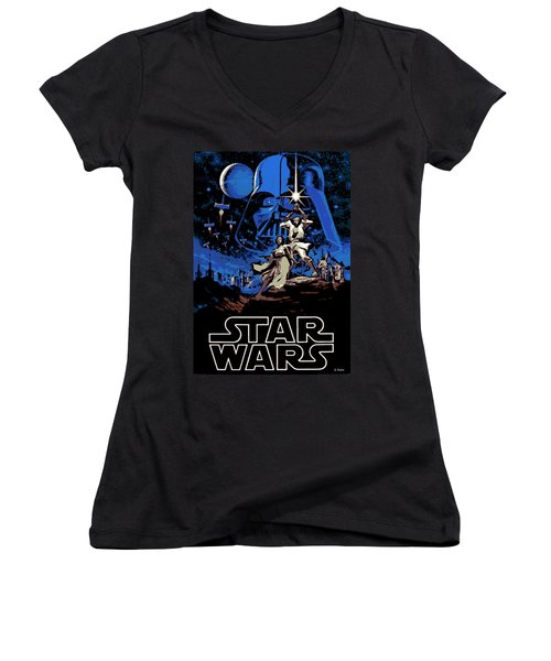 Star Wars Poster Women's V-Neck T-Shirt
