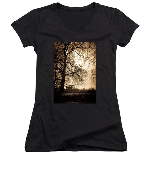 Step Up To The Little House Women's V-Neck