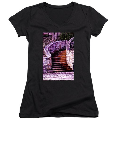 Stone Staircase Women's V-Neck T-Shirt