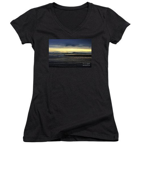 Women's V-Neck T-Shirt (Junior Cut) featuring the photograph Stormy Morning 2 by Blair Stuart