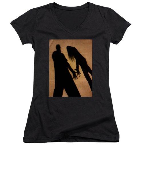 Street Shadows 006 Women's V-Neck T-Shirt