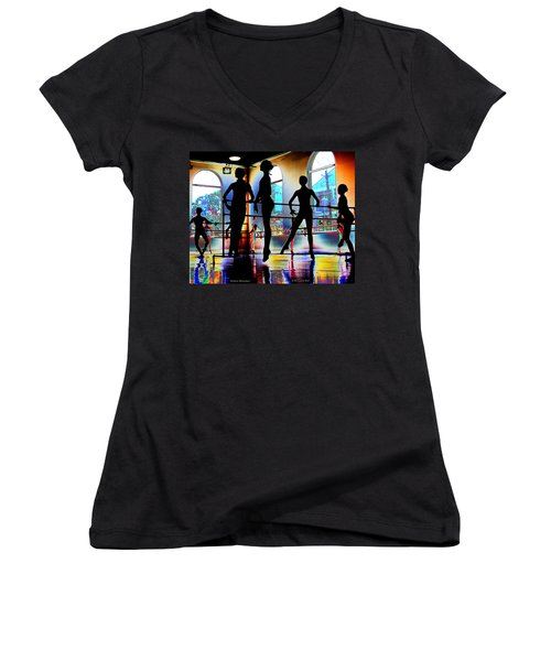 Sublime Silhouettes Women's V-Neck (Athletic Fit)