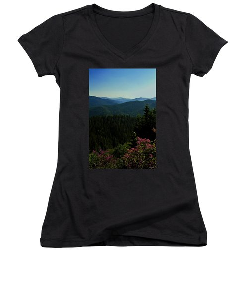 Summer In The Mountains Women's V-Neck T-Shirt