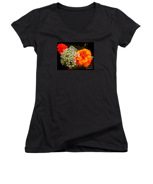 Women's V-Neck T-Shirt (Junior Cut) featuring the photograph Summer by Milena Ilieva