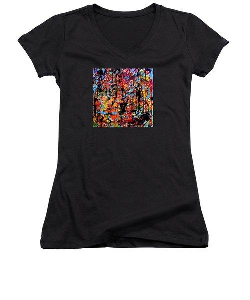 Sun Time Women's V-Neck T-Shirt