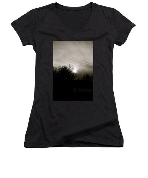 Sunset Women's V-Neck T-Shirt (Junior Cut) by Kume Bryant
