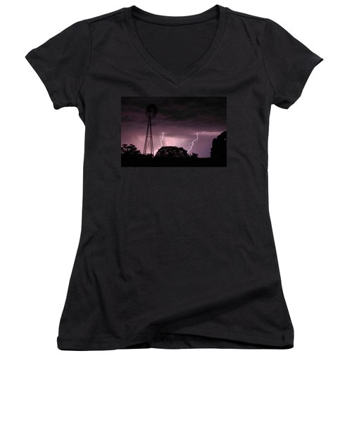 Super Storm Women's V-Neck T-Shirt