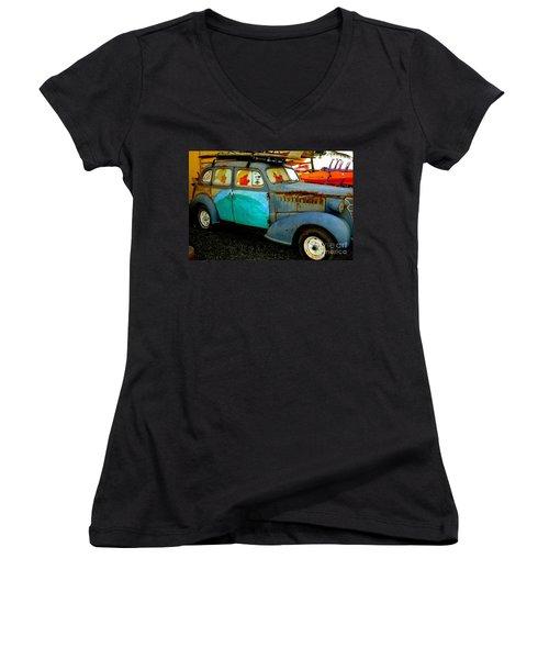 Surf Mobile Women's V-Neck T-Shirt