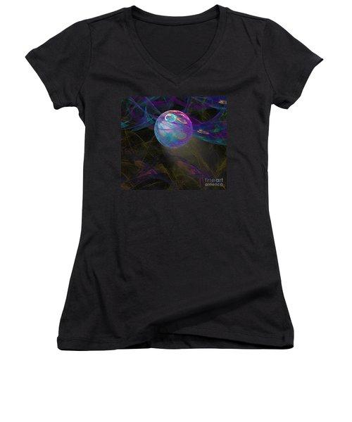 Suspension Women's V-Neck T-Shirt (Junior Cut) by Victoria Harrington