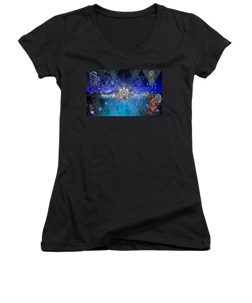 Synesthetic Dreamscape Women's V-Neck (Athletic Fit)