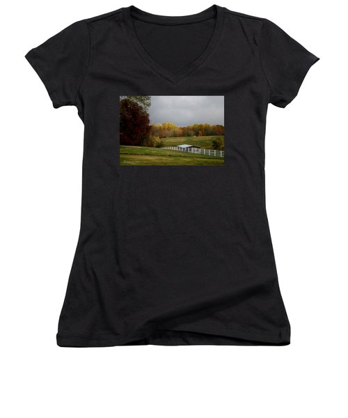 Take A Deep Breath Women's V-Neck T-Shirt (Junior Cut) by EricaMaxine  Price