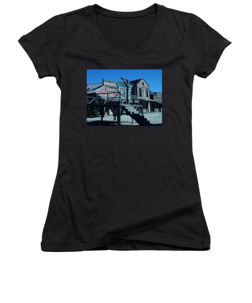 Taverna Western Village In Spain Women's V-Neck