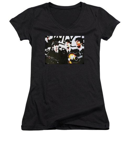 The Beatles Women's V-Neck T-Shirt