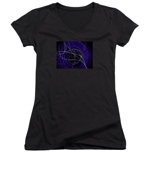 Women's V-Neck T-Shirt (Junior Cut) featuring the photograph The Blue Barb by Amy Sorrell