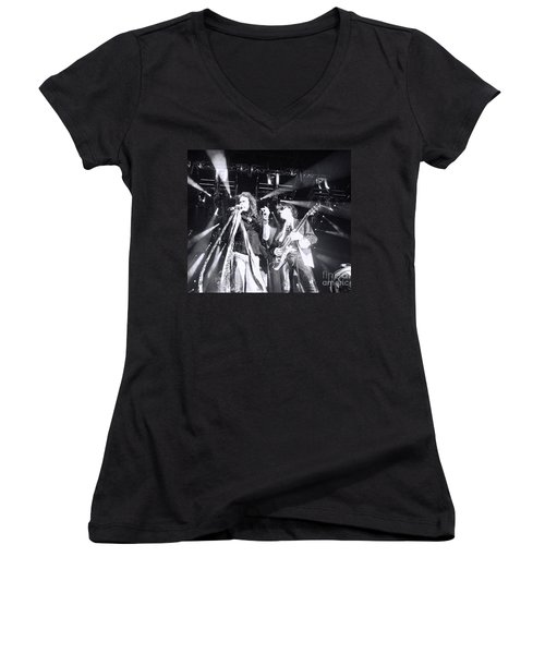 Women's V-Neck T-Shirt (Junior Cut) featuring the photograph The Boyz by Traci Cottingham
