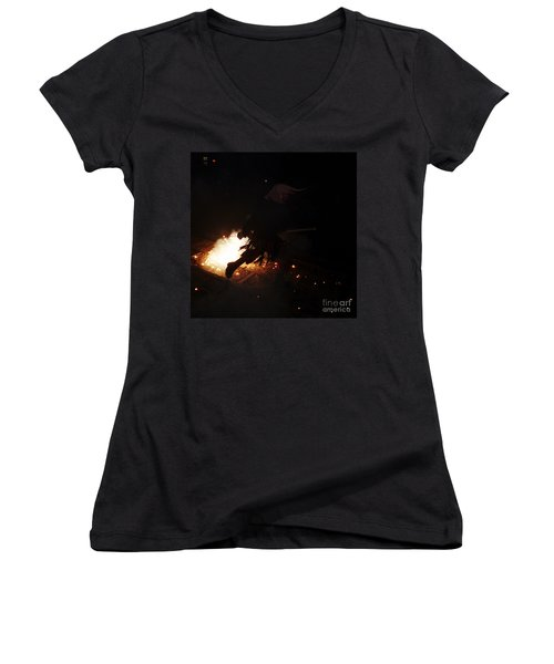 The Devil Of The Stairs Women's V-Neck