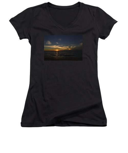 The Distance Between Women's V-Neck T-Shirt (Junior Cut) by Melanie Moraga
