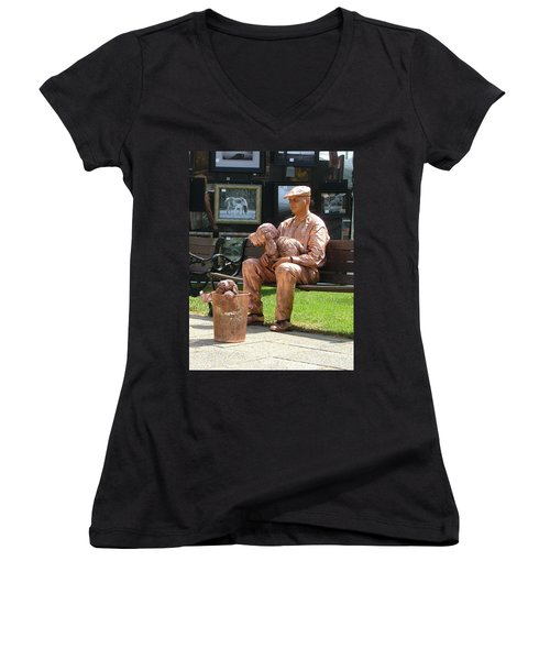 The Dog And Me Women's V-Neck T-Shirt