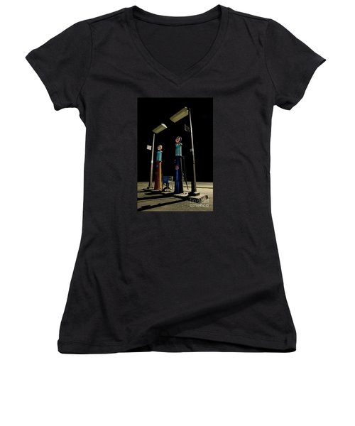 Women's V-Neck T-Shirt (Junior Cut) featuring the photograph The Forgotten Faithful by Keith Kapple