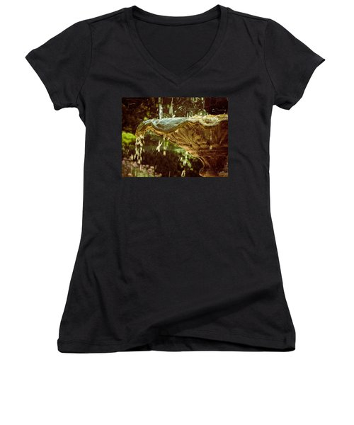 The Fountain Women's V-Neck T-Shirt (Junior Cut) by Jessica Brawley