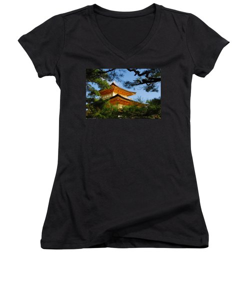 The Golden Temple Women's V-Neck (Athletic Fit)