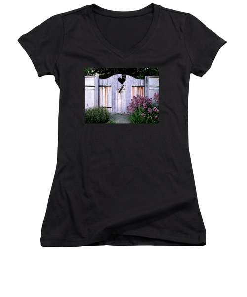 The Heart, Like An Old Gate Needs Care And Attention Women's V-Neck T-Shirt