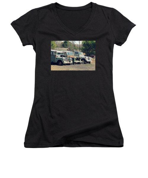 The Land Rover Graveyard Women's V-Neck