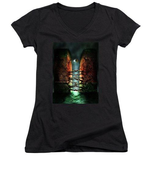 The Last Gate Women's V-Neck T-Shirt