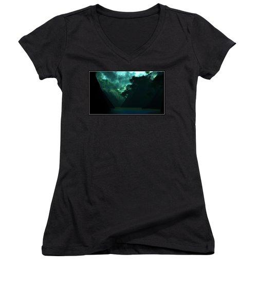 Women's V-Neck T-Shirt (Junior Cut) featuring the digital art The Majesty... by Tim Fillingim