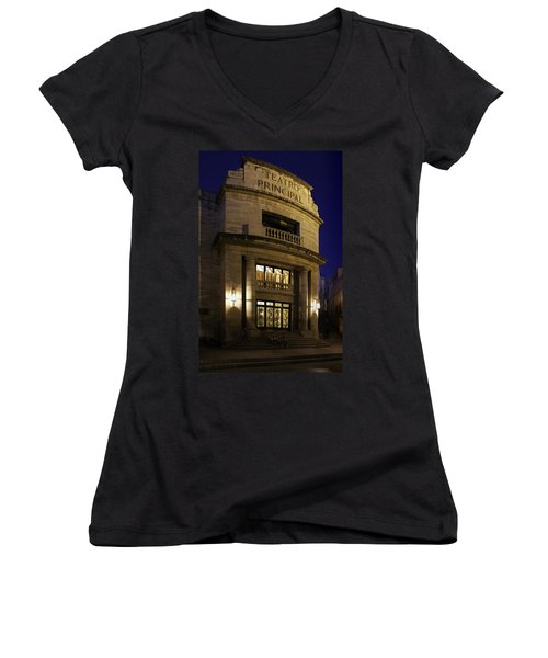 Women's V-Neck T-Shirt (Junior Cut) featuring the photograph The Meeting Place by Lynn Palmer