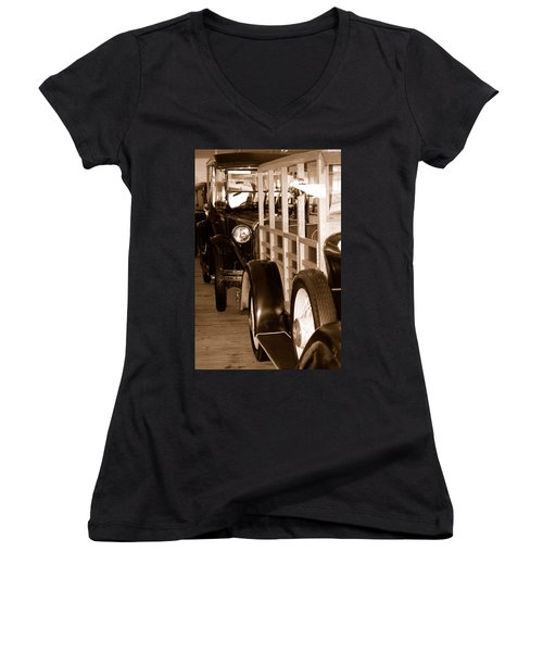 The Old Line Up Women's V-Neck (Athletic Fit)