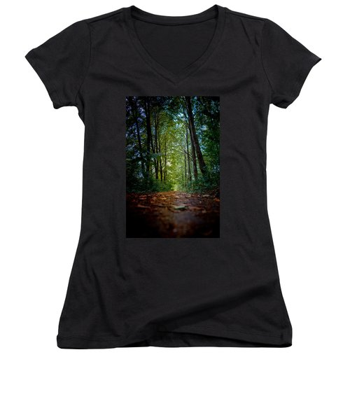 The Pathway In The Forest Women's V-Neck
