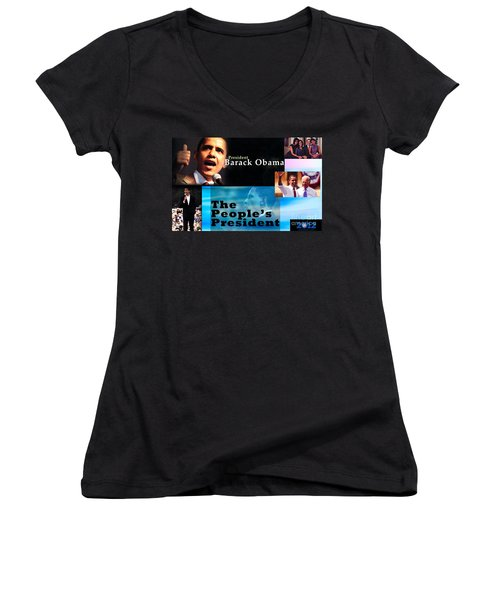 The People's President Women's V-Neck T-Shirt (Junior Cut) by Terry Wallace