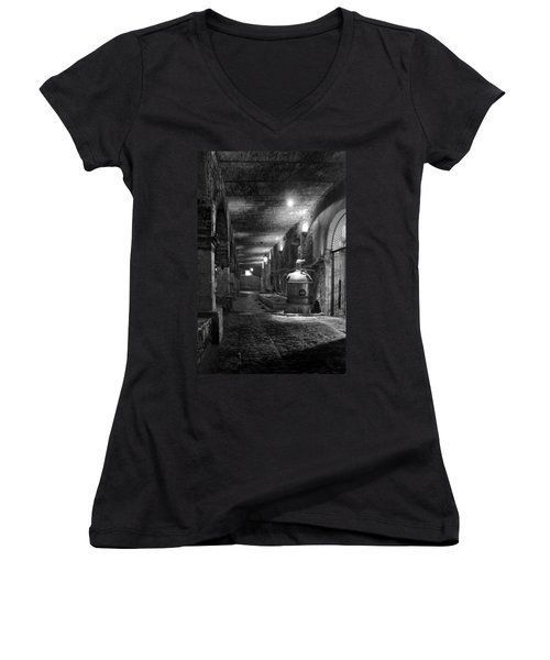 Women's V-Neck T-Shirt (Junior Cut) featuring the photograph The Tequilera No. 2 by Lynn Palmer