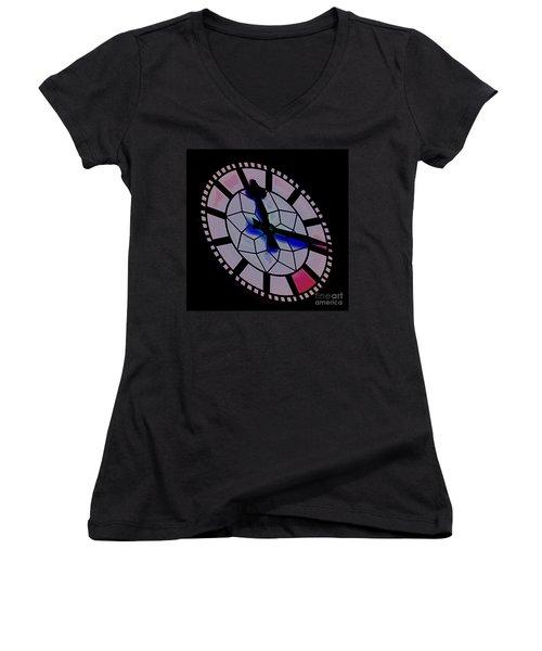 Women's V-Neck T-Shirt (Junior Cut) featuring the photograph Time Waits For No Man by Blair Stuart