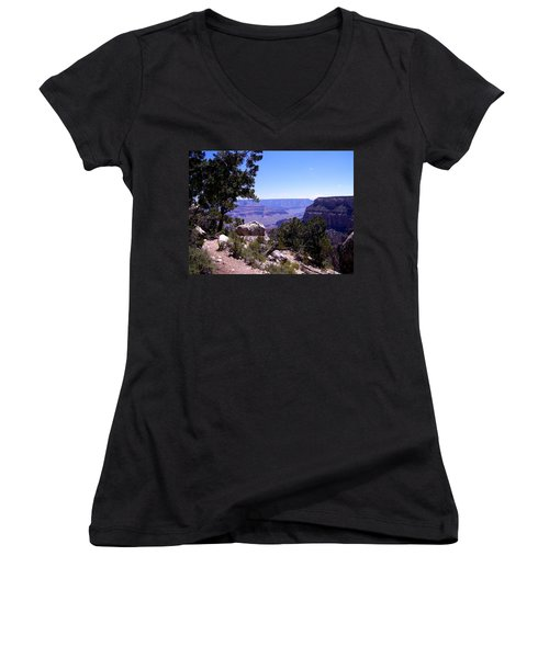 Trail To The Canyon Women's V-Neck (Athletic Fit)