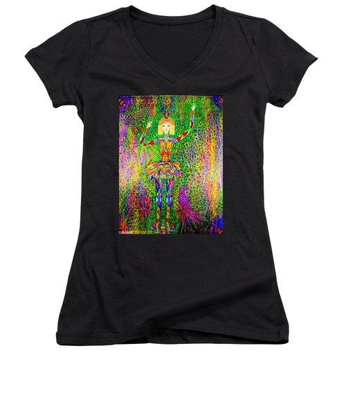 Trapped Ballerina Women's V-Neck T-Shirt
