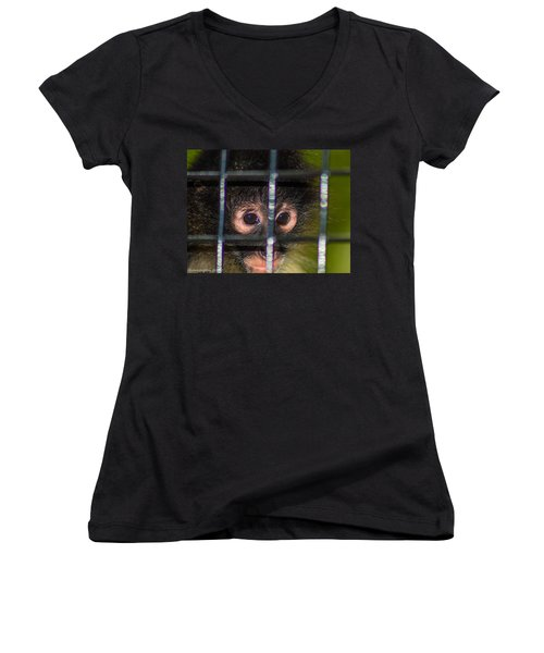 Trapped Women's V-Neck (Athletic Fit)