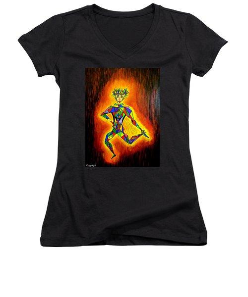 Triangle Man Women's V-Neck T-Shirt
