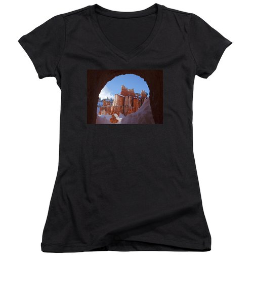 Tunnel In The Rock Women's V-Neck