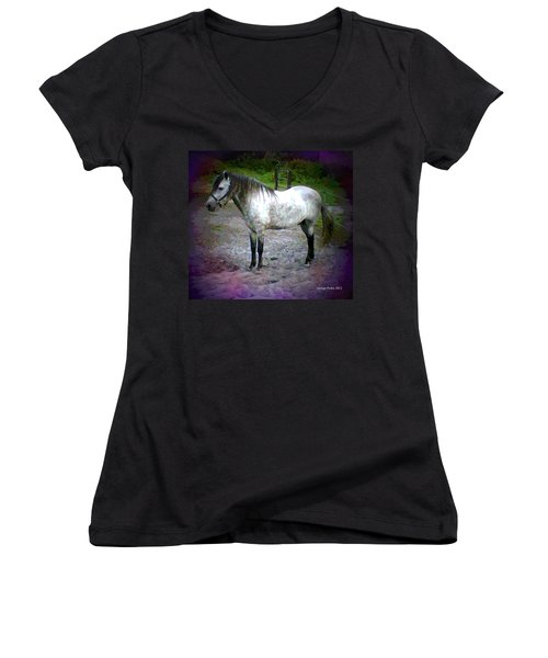 Women's V-Neck T-Shirt (Junior Cut) featuring the photograph Vash The Stampede by George Pedro