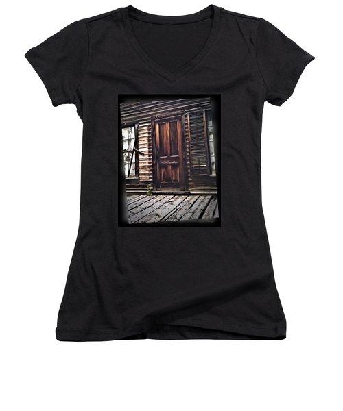 Virginia City Ghost Town Door I Women's V-Neck