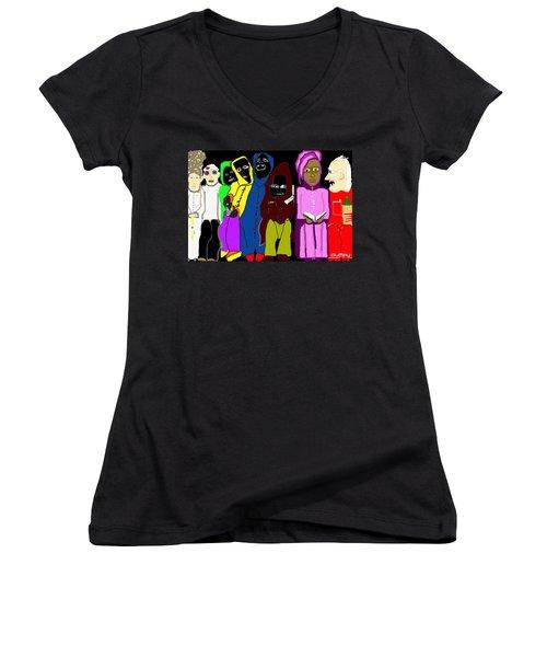 Waiting Room Charity Hospital 2 Women's V-Neck T-Shirt